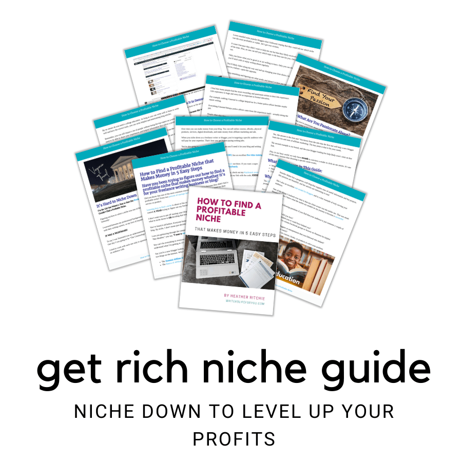 how to find a profitable niche get rich guide